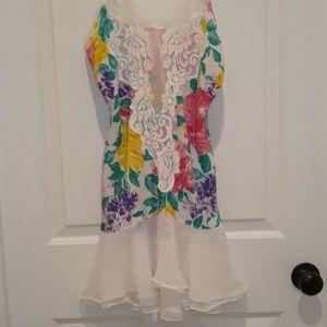 Victoria's Secret floral nighty negligee small PJ'